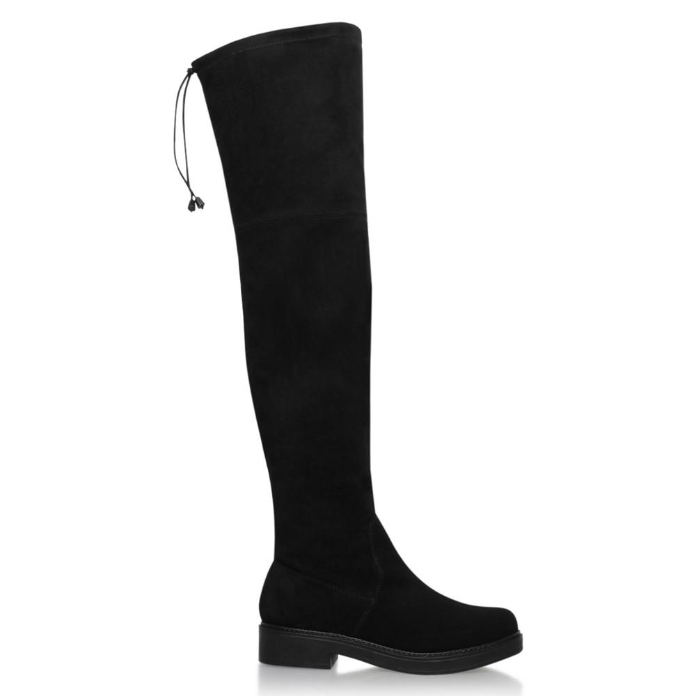 KG by Kurt Geiger Suede Trooper Over The Knee Boots in Black Suede (Black)