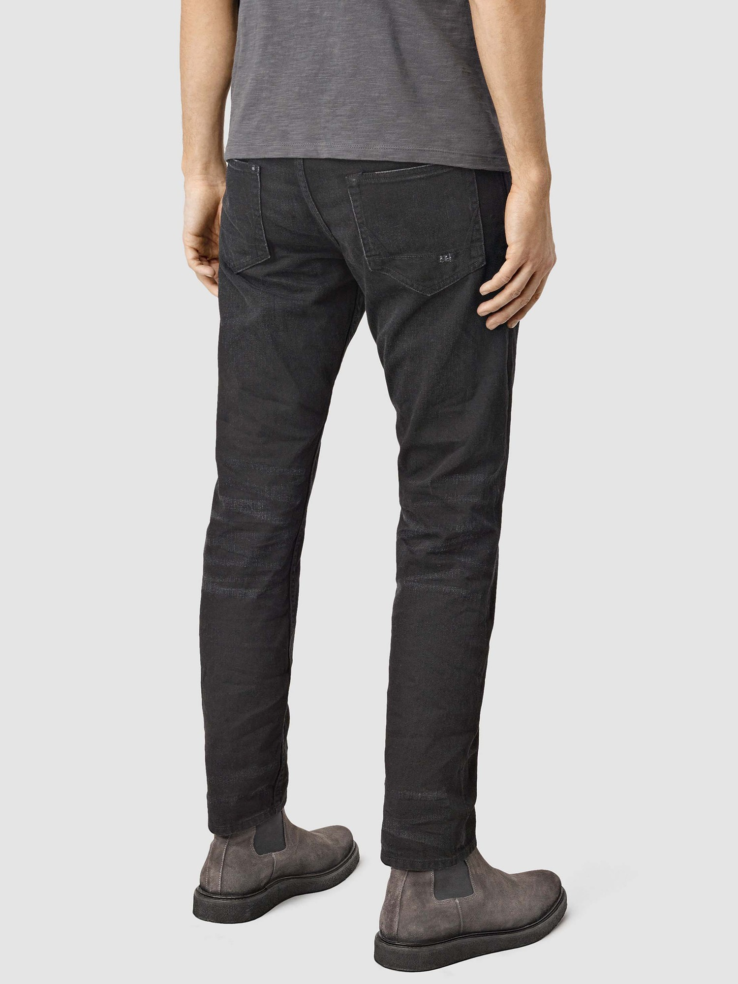 AllSaints Denim Kaneko Tapered Jeans in Black for Men