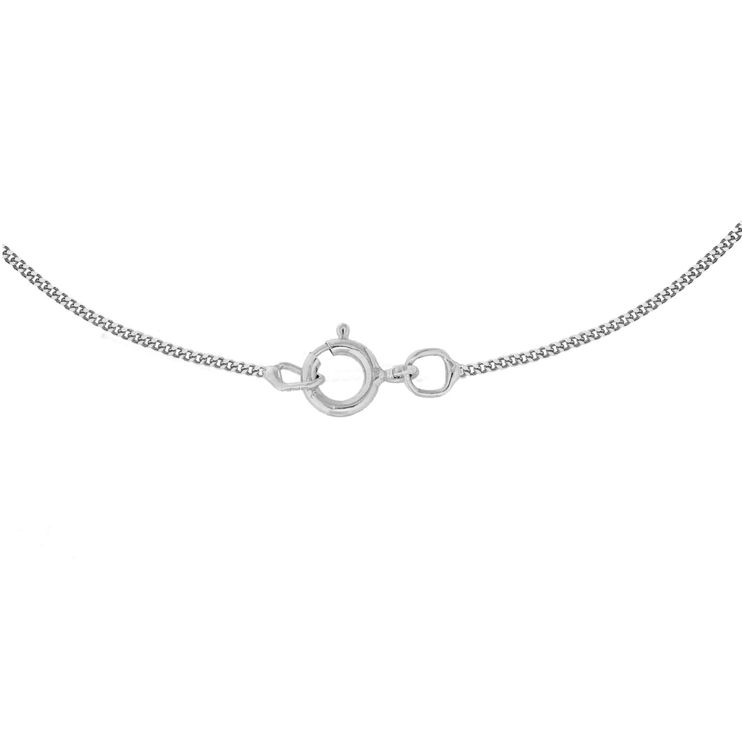 Ib&b 9ct Gold Knot Pendant in White Gold (Metallic)