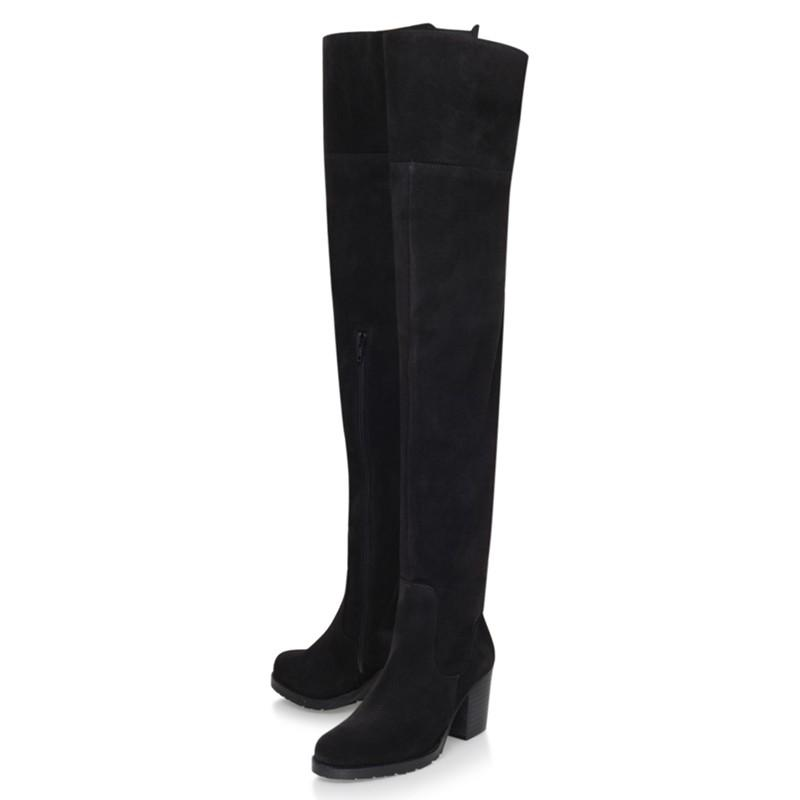 Kurt Geiger Silk Skyler Over The Knee Boots in Black Suede (Black)