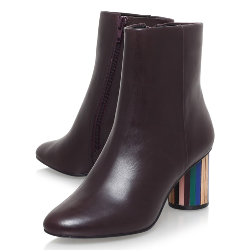 Kurt Geiger Leather Noble Block Heeled Ankle Boots