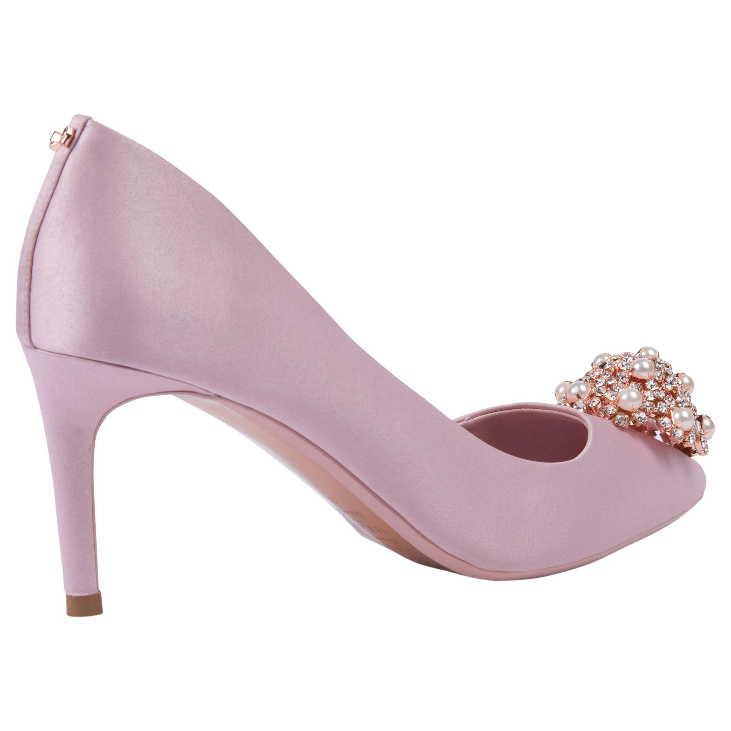 0f9cf781a20 Ted Baker Dahrlin Embellished Court Shoes in Pink - Lyst