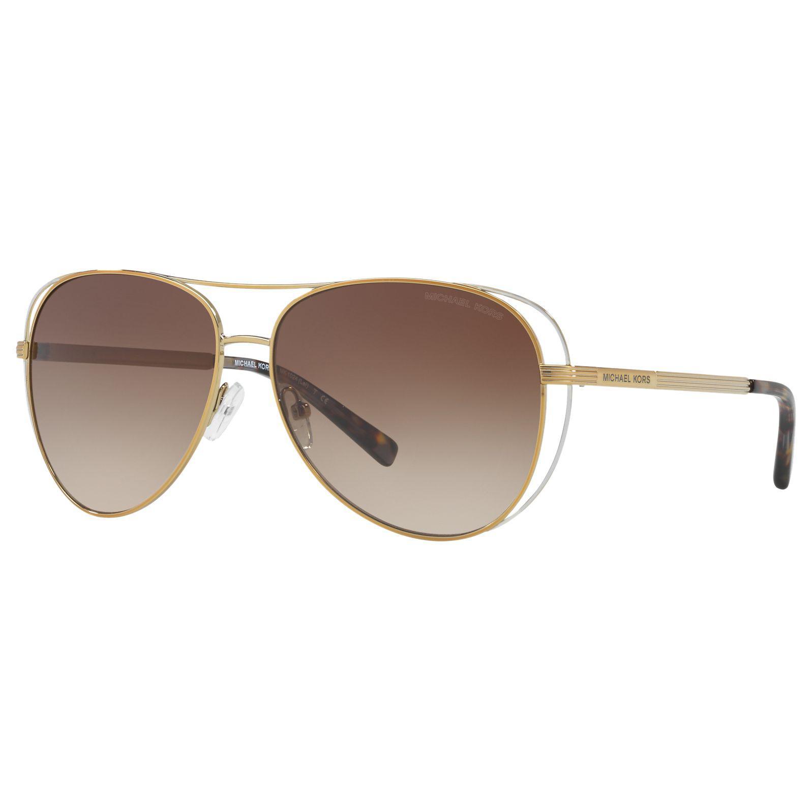 c8b8a0b6c9 Michael Kors Mk1024 Lai Aviator Sunglasses in Brown - Lyst