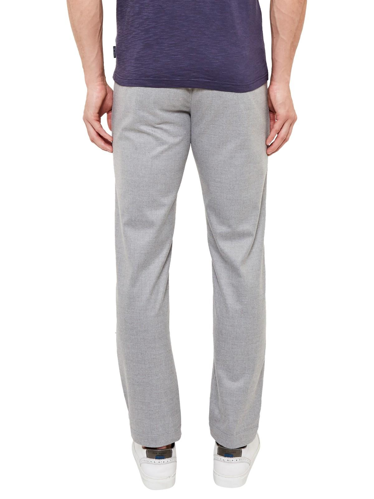 Ted Baker Synthetic Hiptony Cropped Trousers in Light (Grey) for Men