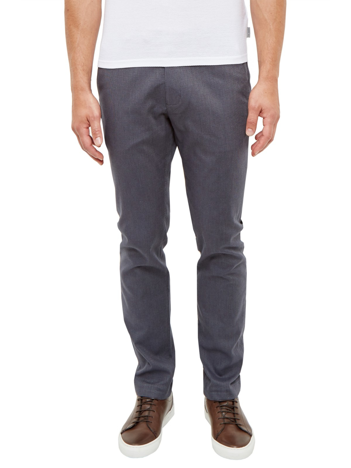Ted Baker Cotton Tommie Trousers in Charcoal (Blue) for Men