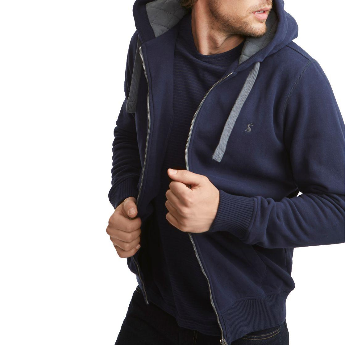 Joules Cotton Pettet Hooded Jumper in Blue for Men