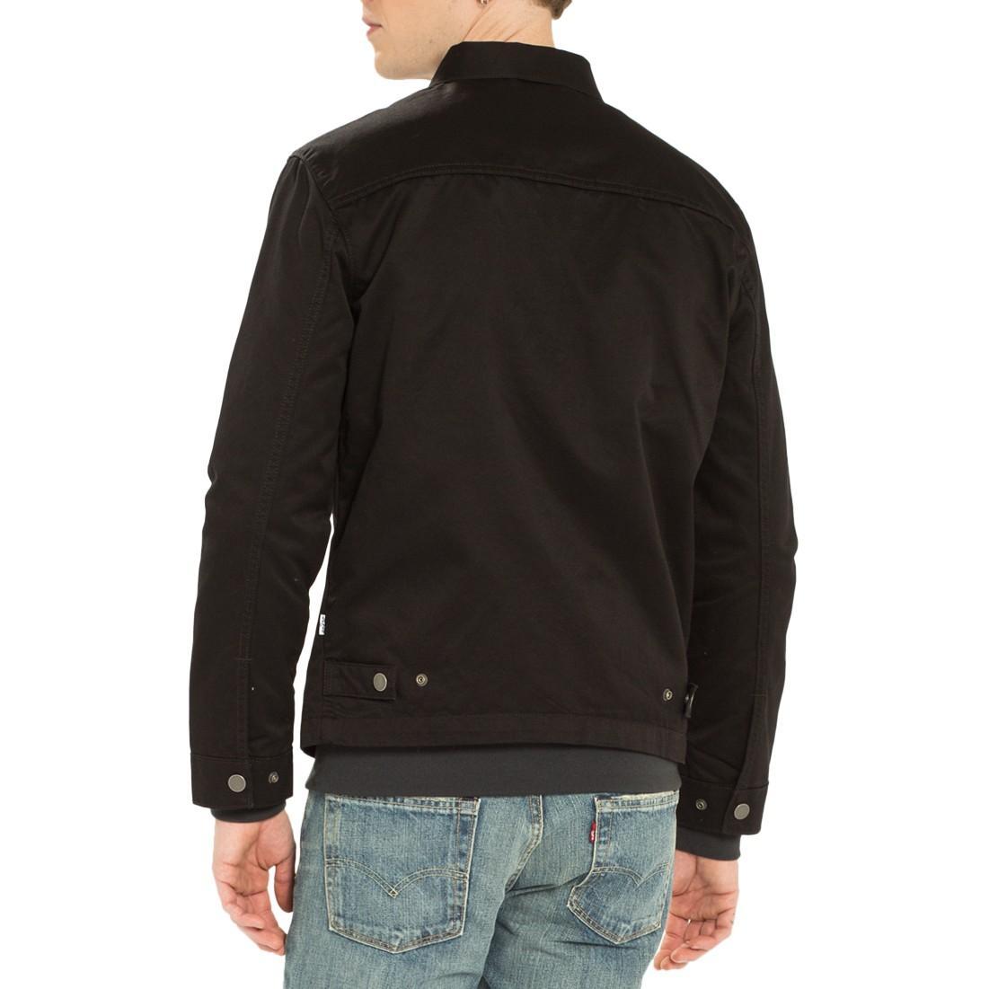 Levi's Cotton Harrington Trucker Jacket in Black for Men