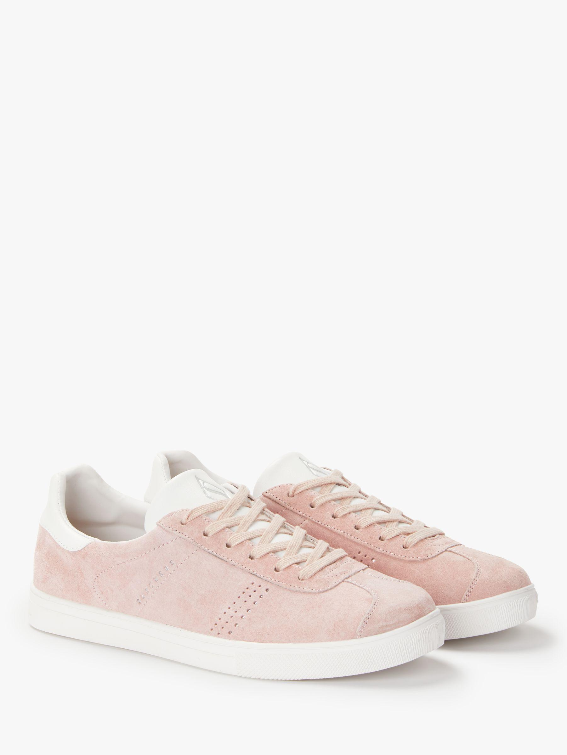 Skechers Denim Moda Perswayed Lace Up Trainers in Pink Suede (Pink)