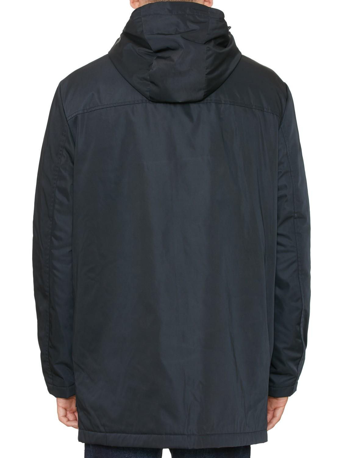 Original Penguin Synthetic Water Resistant Twill Quilted Parka Jacket in Black for Men