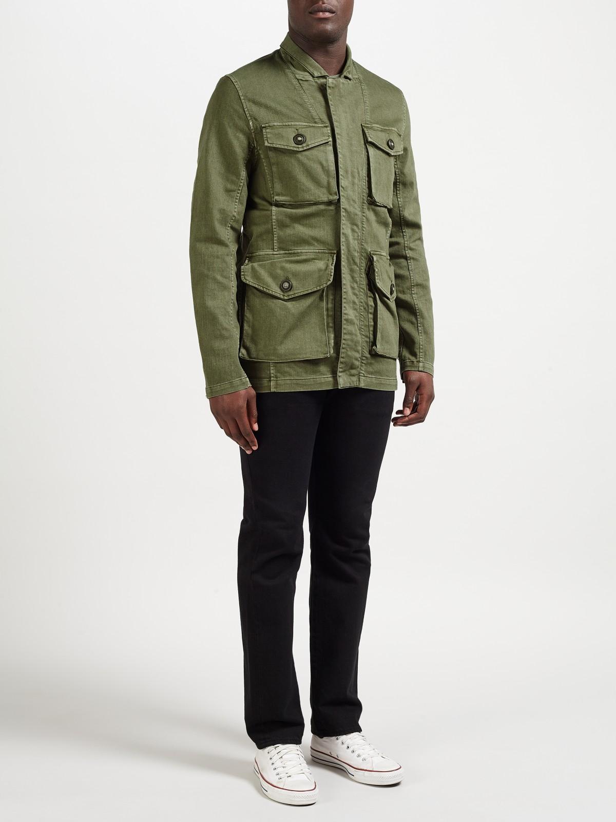 Denham Cotton V65 Jacket Tsc in Legion Green (Green) for Men