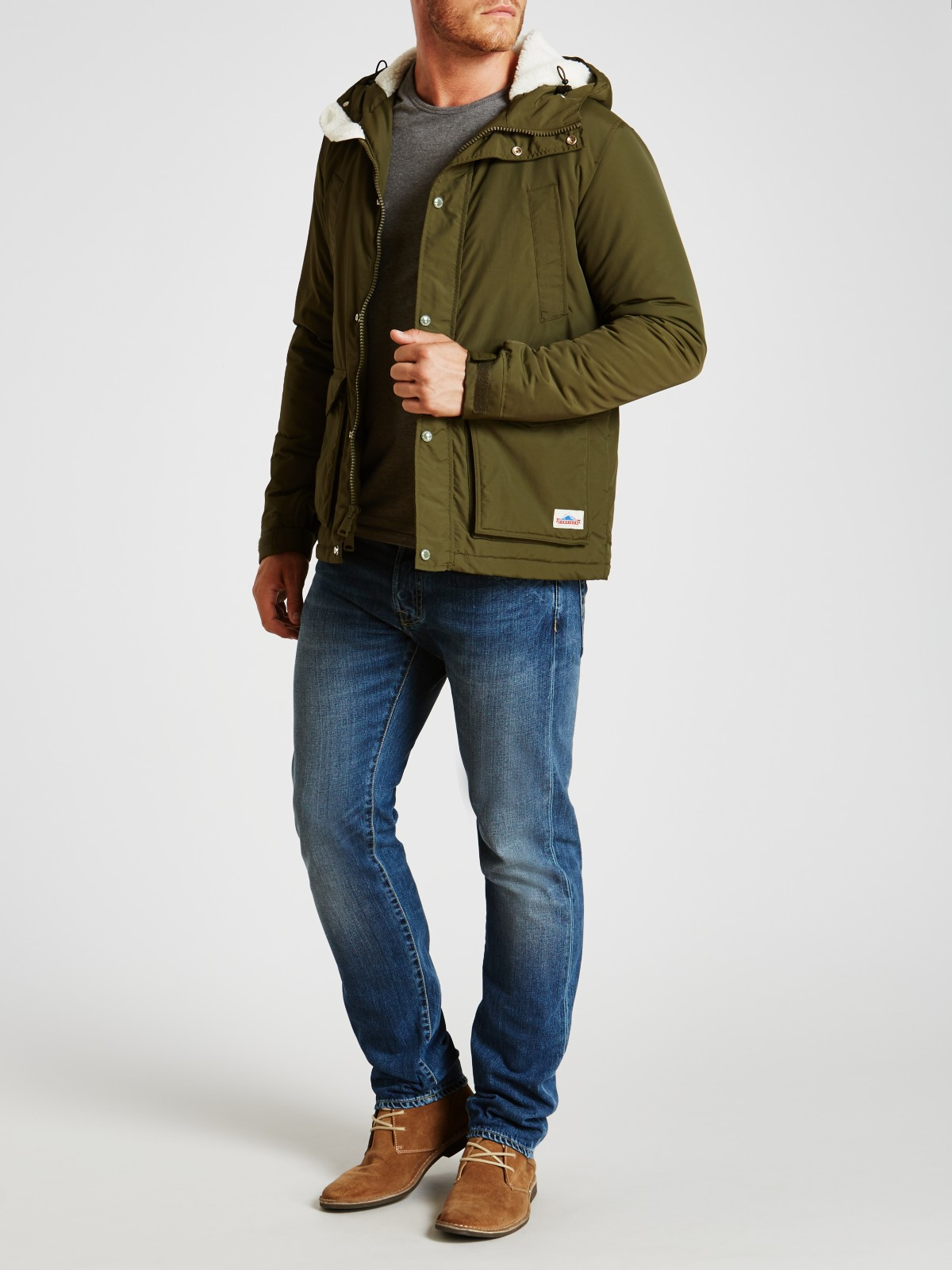 Penfield Denim Hosston Jacket in Olive (Green) for Men