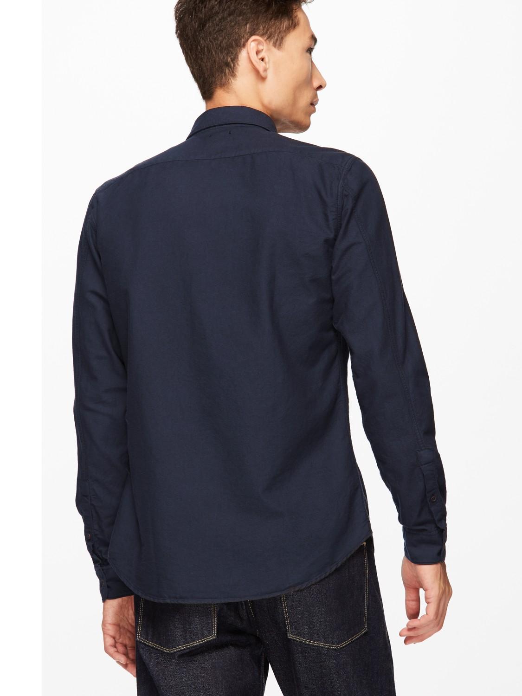 Jigsaw Cotton Dye Bound Edge Oxford Shirt in Dark Teal (Blue) for Men