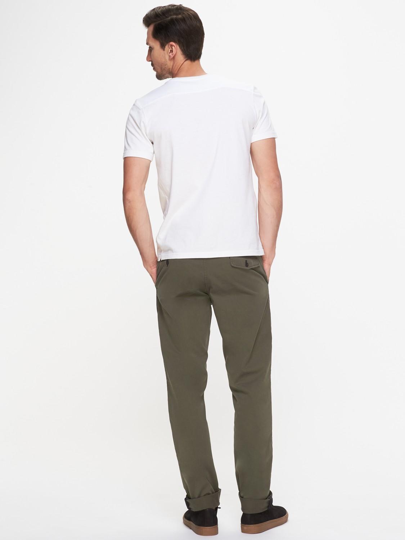 Jigsaw Cotton Garment Dye Slim Fit Trousers in Khaki (Grey) for Men