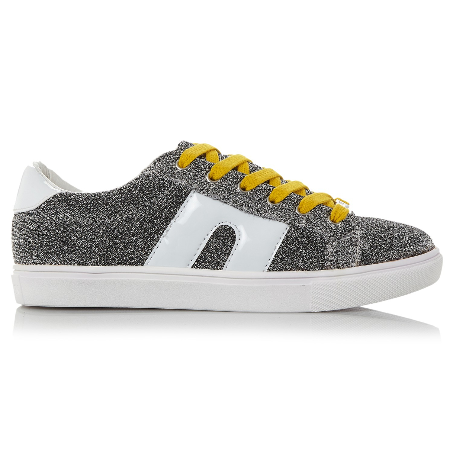 Steve Madden Lace Sm1 Low Top Trainers in Silver (Metallic)