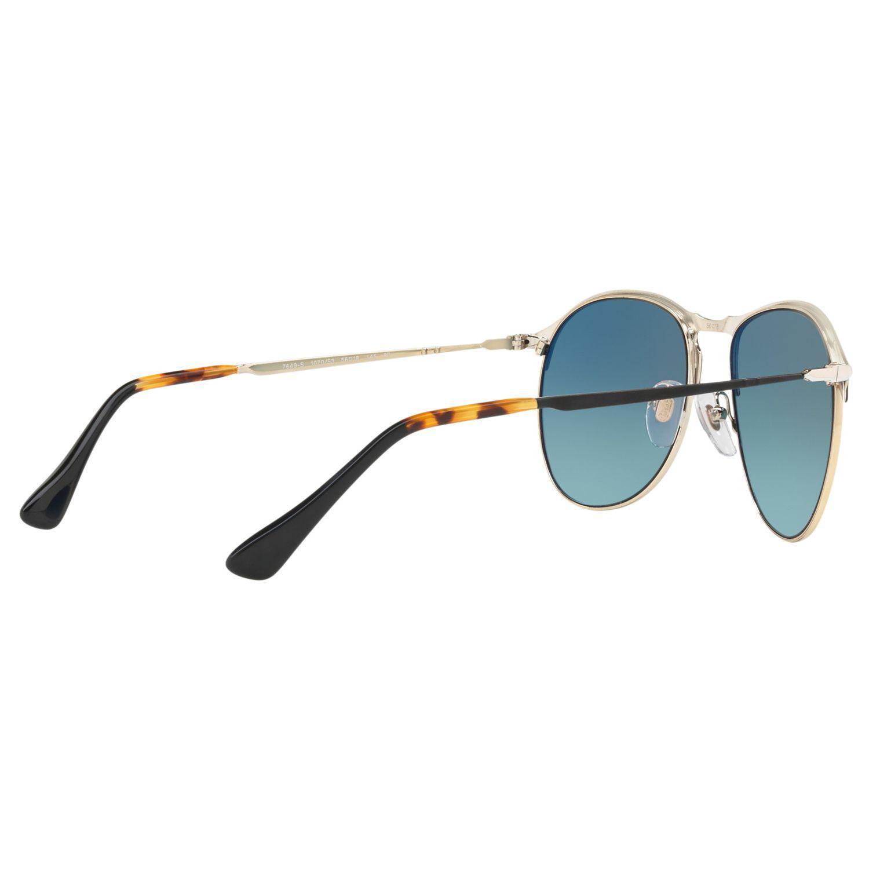 Persol Po7649s Polarised Aviator Sunglasses in Blue for Men