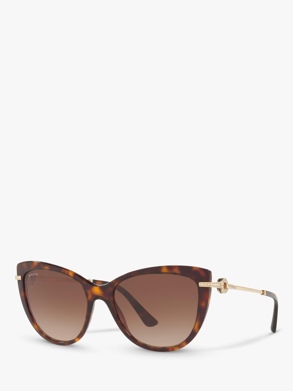 ac2370ffbb401 BVLGARI - Brown Bv8218b Women s Cat s Eye Sunglasses - Lyst. View fullscreen