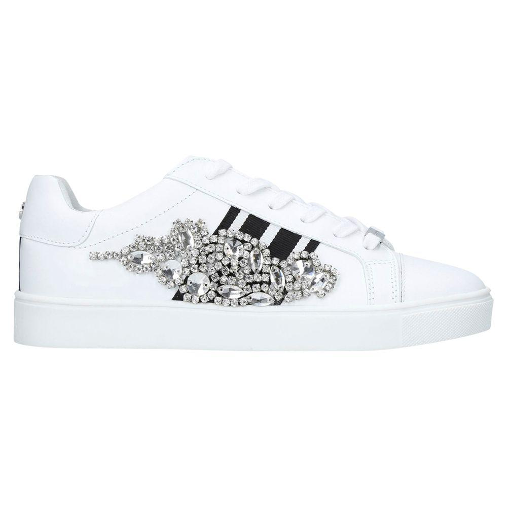 Lustre Embellished Lace Up Trainers