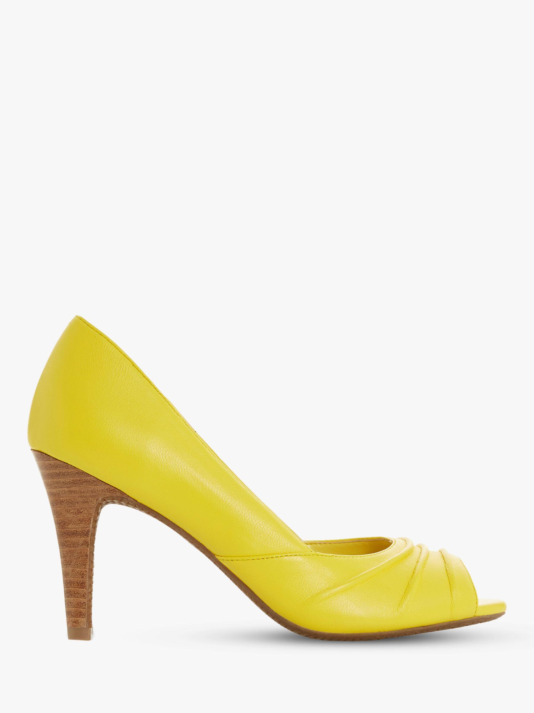 510518b4829 Dune Yellow Christey Open Toe Court Shoes