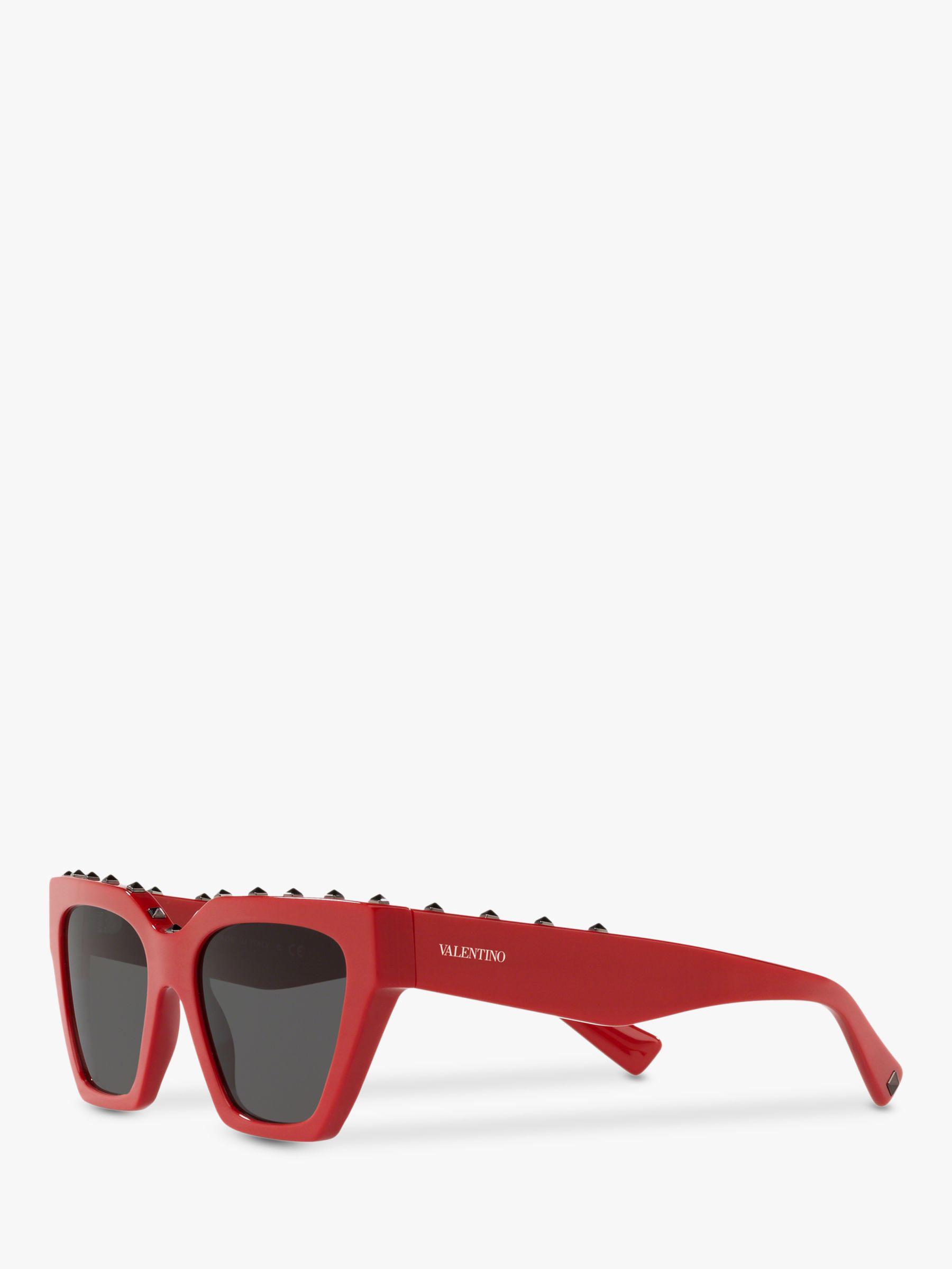d645ae21b71f2 Valentino Va4046 Women s Studded Square Sunglasses in Red - Lyst