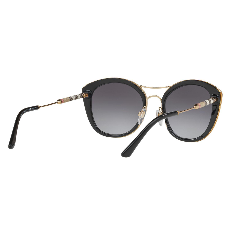 Burberry Be4251q Round Sunglasses in Black