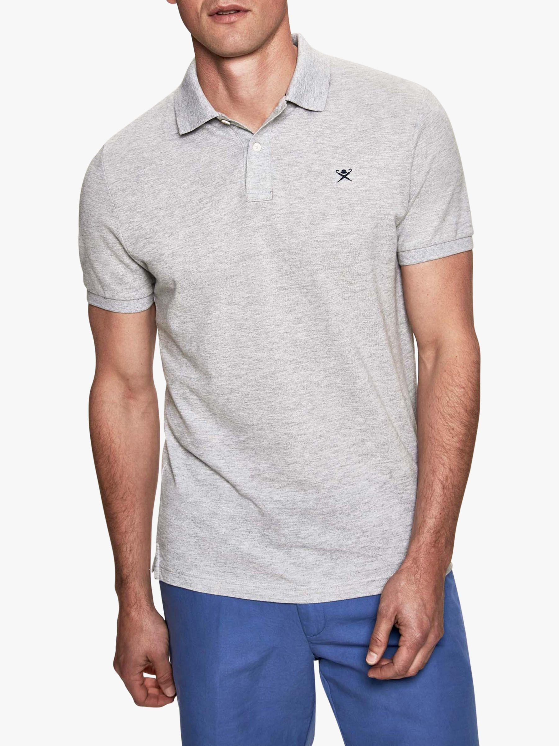 62dd2fc629f Hackett Slim Fit Logo Polo Shirt in Gray for Men - Lyst