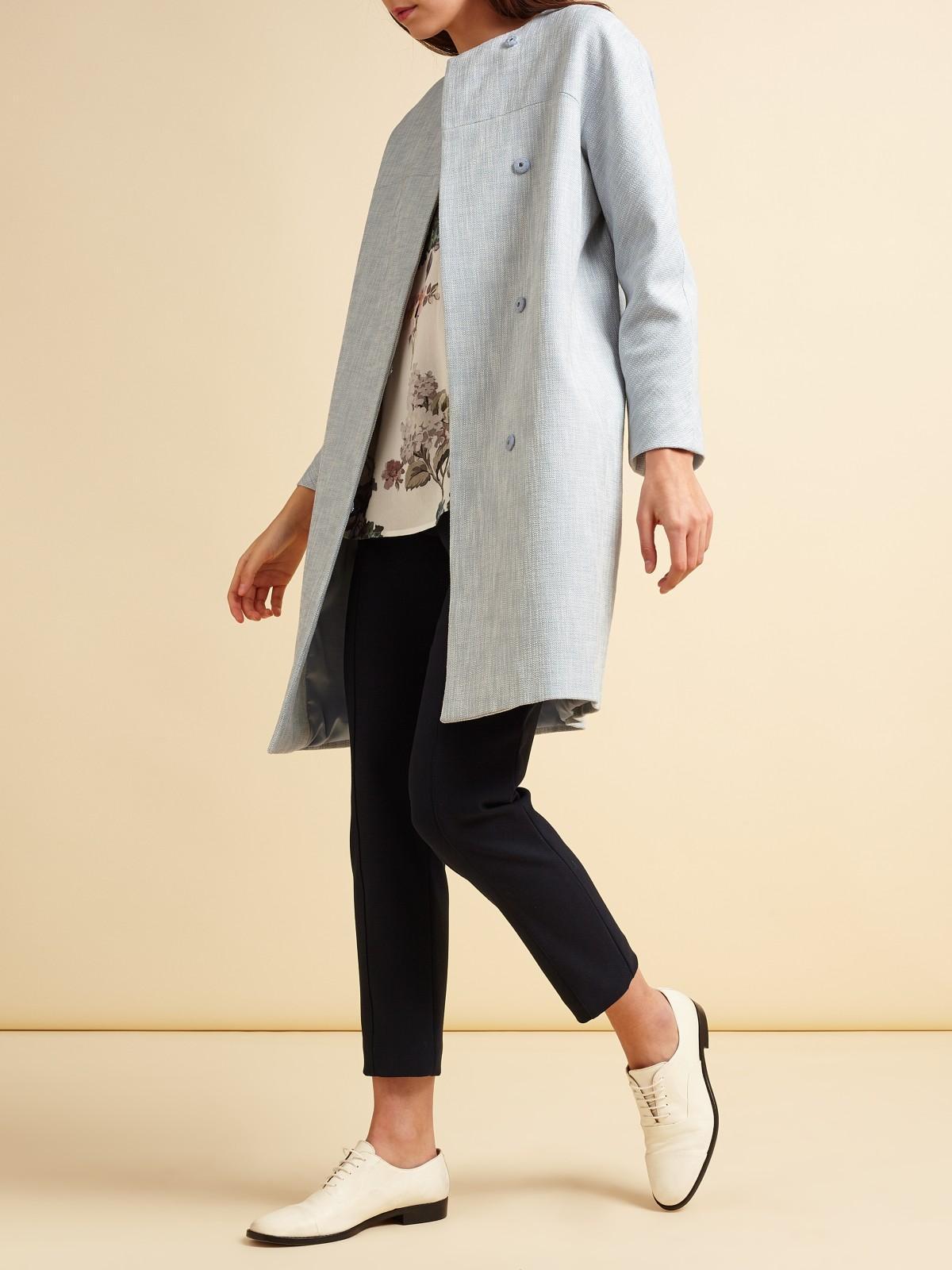 Modern Rarity Textured Coat In Blue Lyst