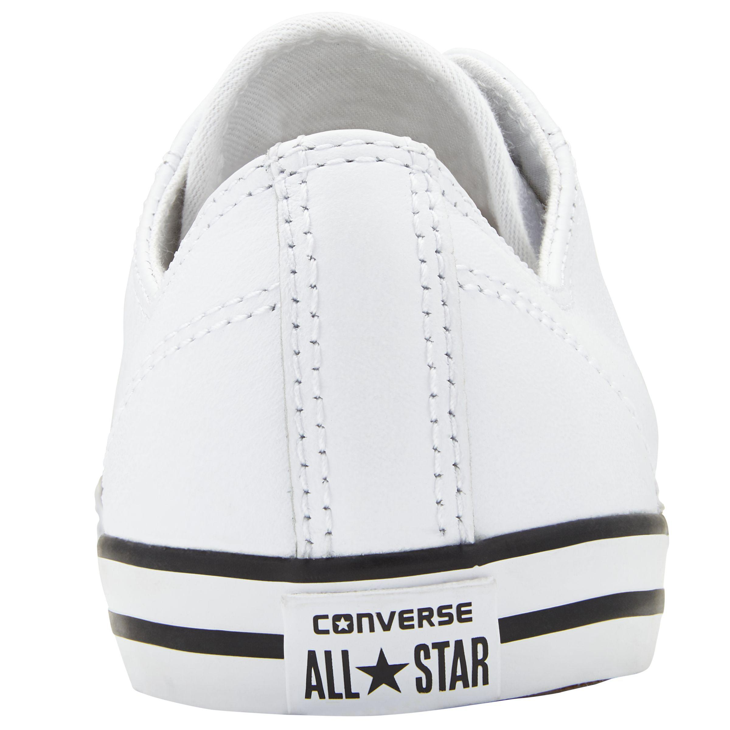 Dainty Leather Trainers in White
