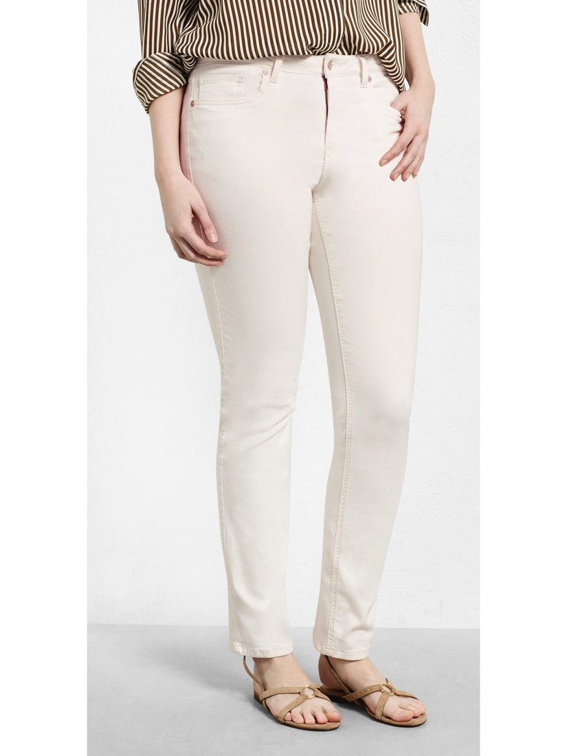 Violeta by Mango Denim Straight Theresa Jeans in Light Beige (Natural)