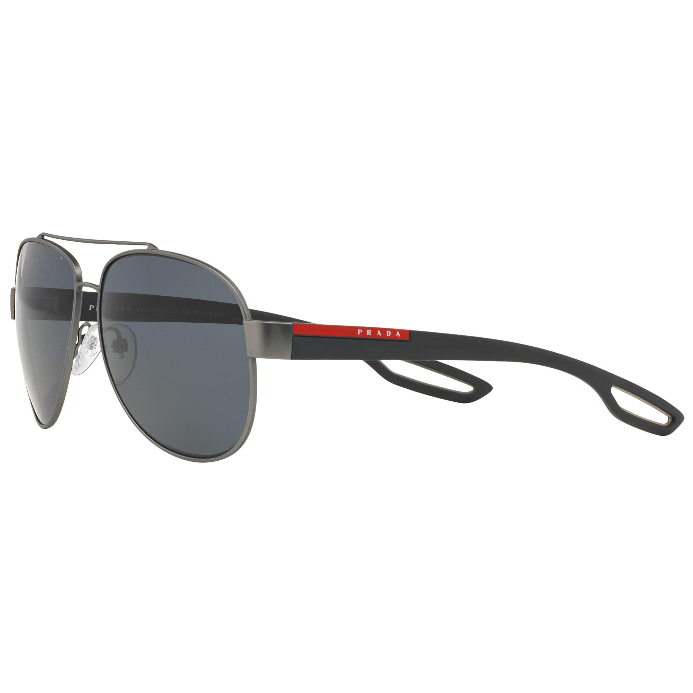 8307e6eb42c Prada - Gray Linea Rossa Ps55qs Aviator Polarised Sunglasses for Men -  Lyst. View fullscreen