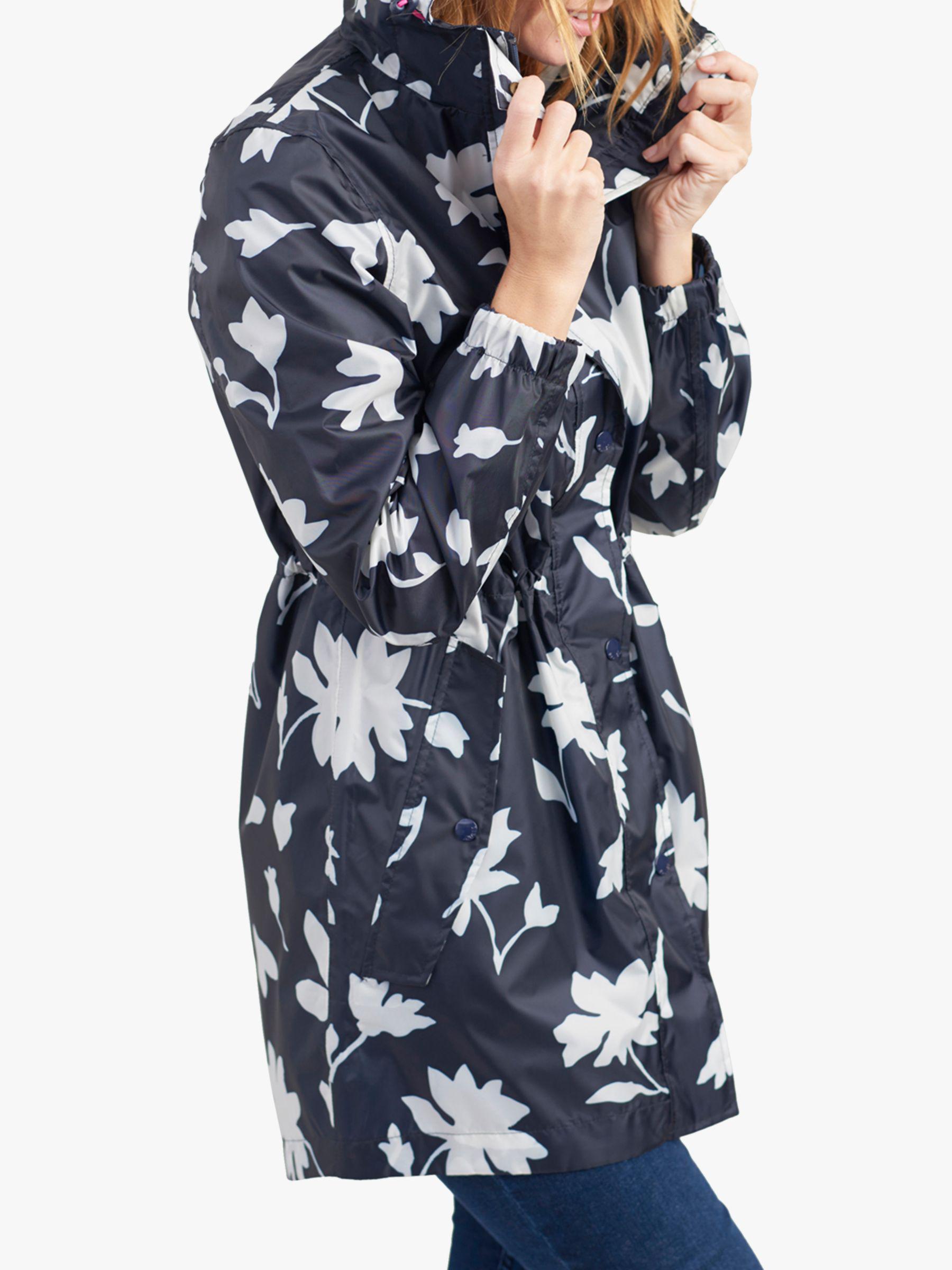 639401ffeb55 Joules. Women s Blue Golightly Pack-away Waterproof Floral Print Parka Coat