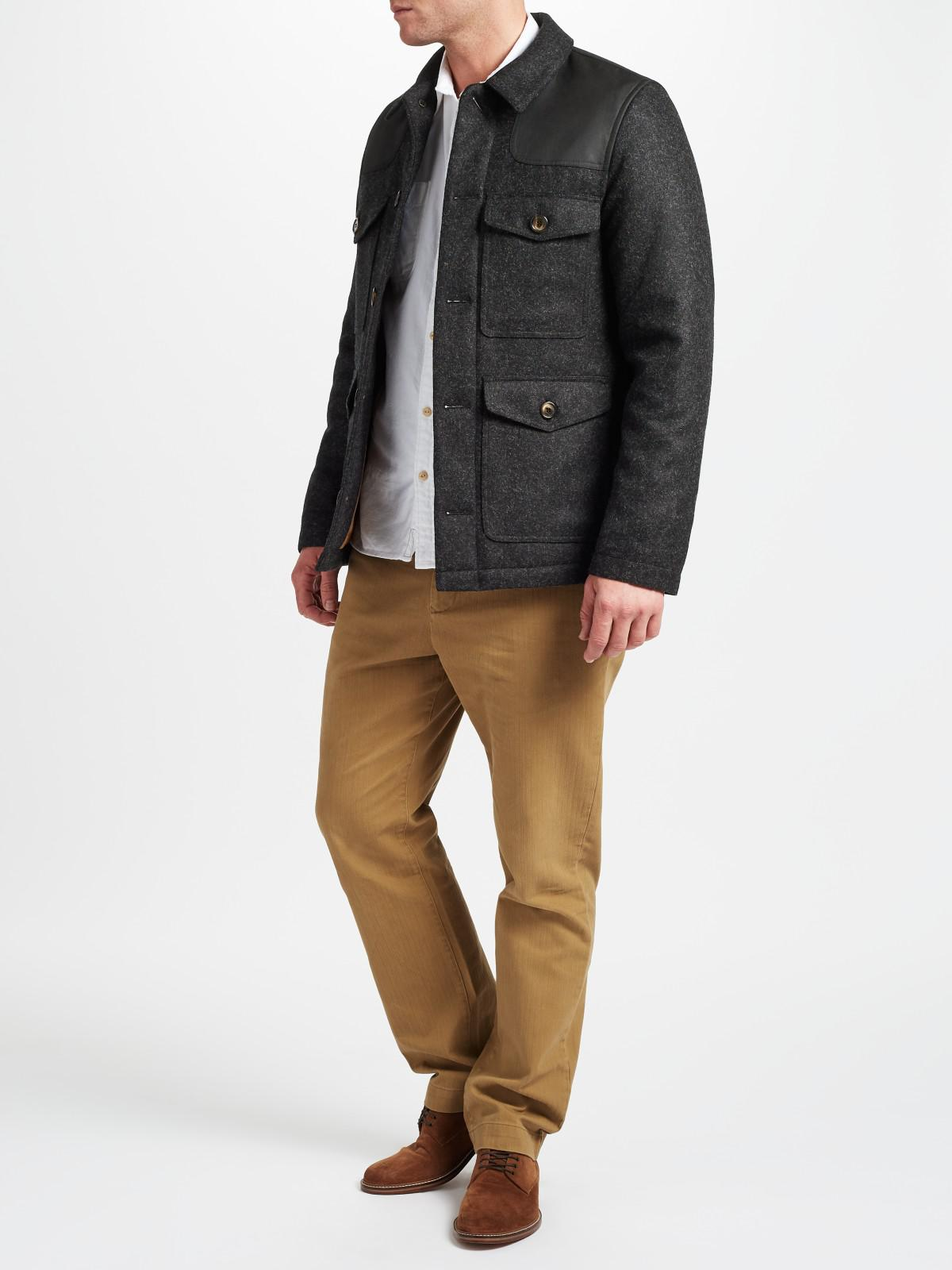 John Lewis Wool Made In Manchester Donkey Jacket in Grey (Grey) for Men