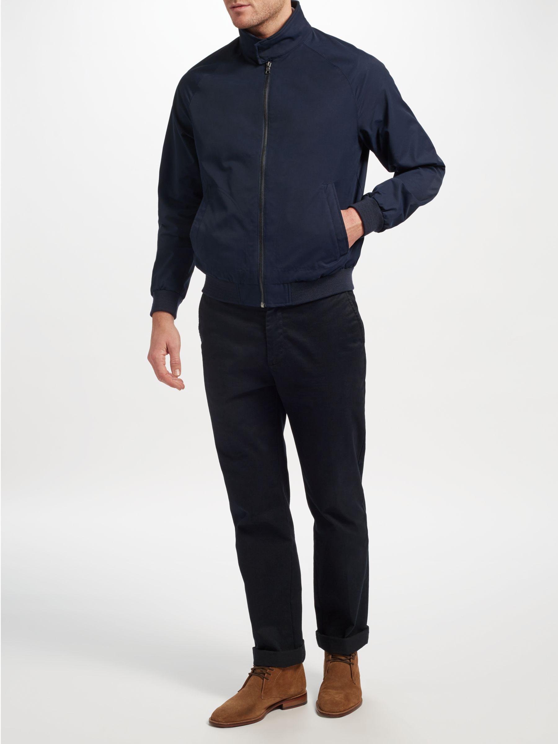 John Lewis Cotton Shower Resistant Harrington Jacket in Navy (Blue) for Men