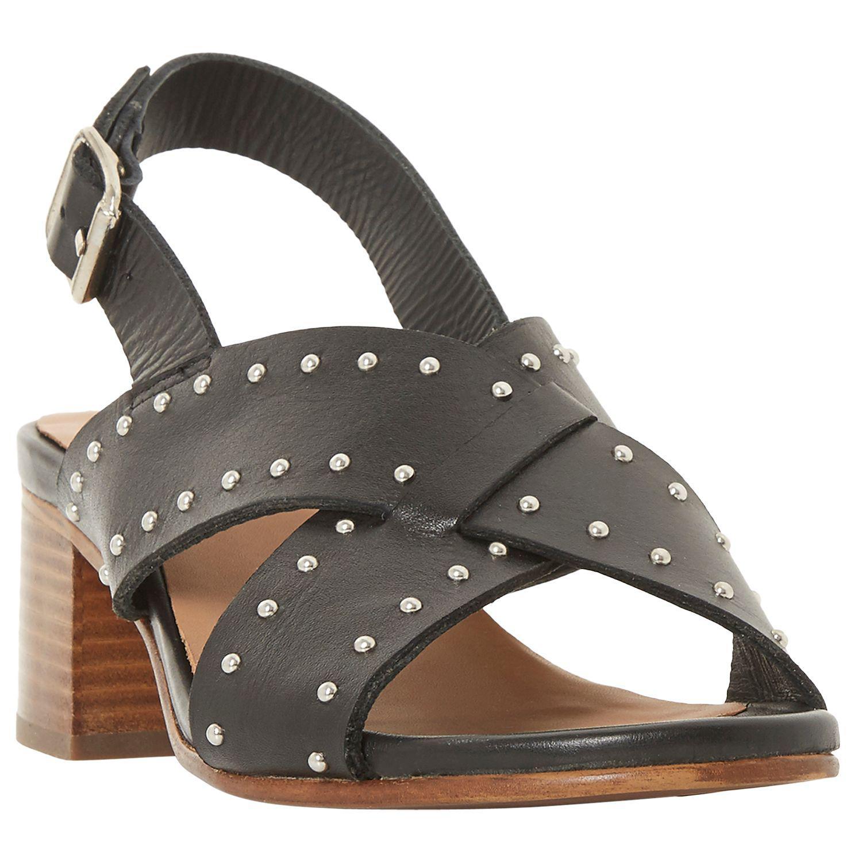6408b63258e Bertie Indygo Studded Strap Block Heel Sandals in Black - Lyst