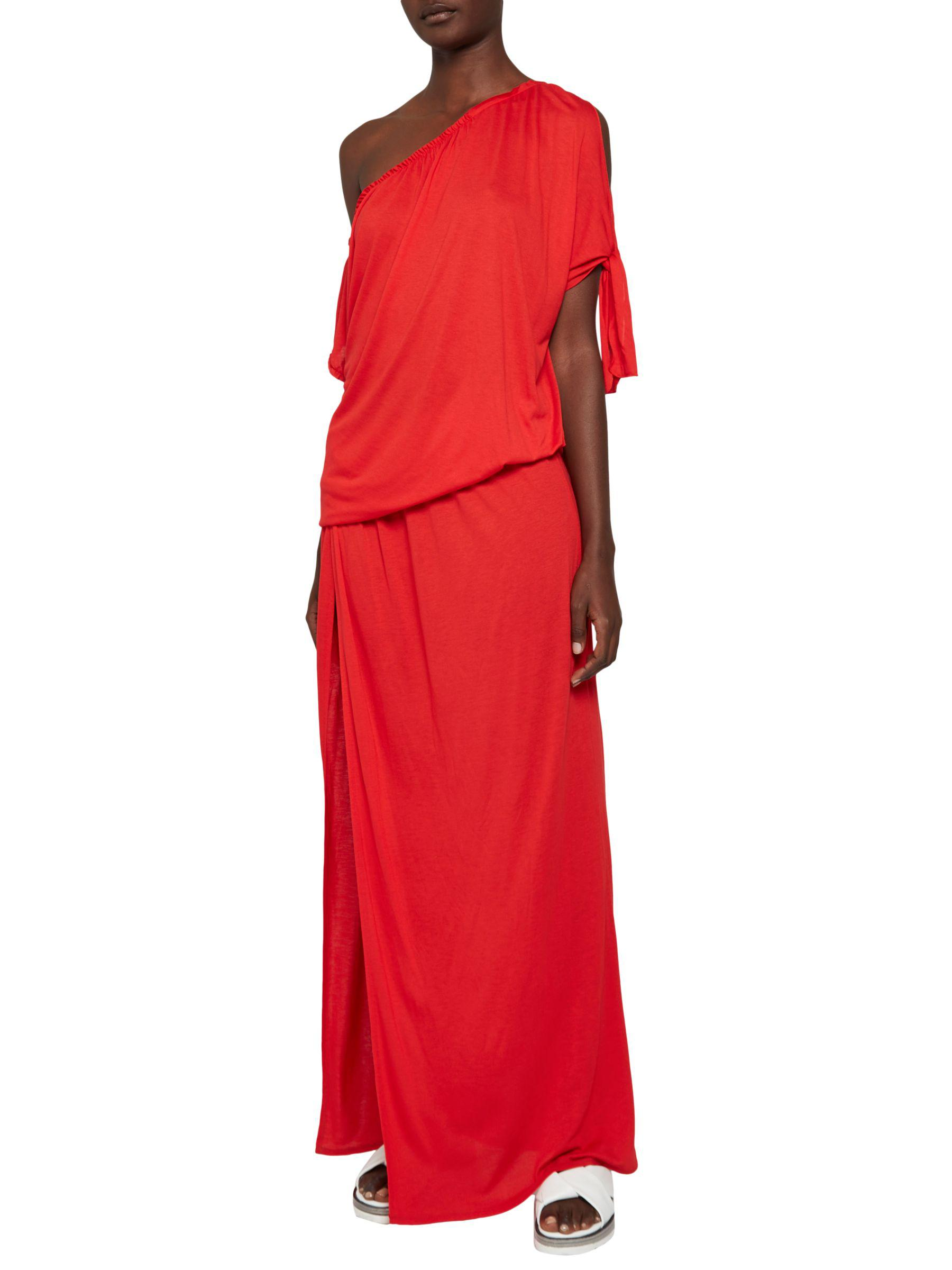 e5d429dd French Connection Tanna Jersey Asymmetric Dress in Red - Lyst