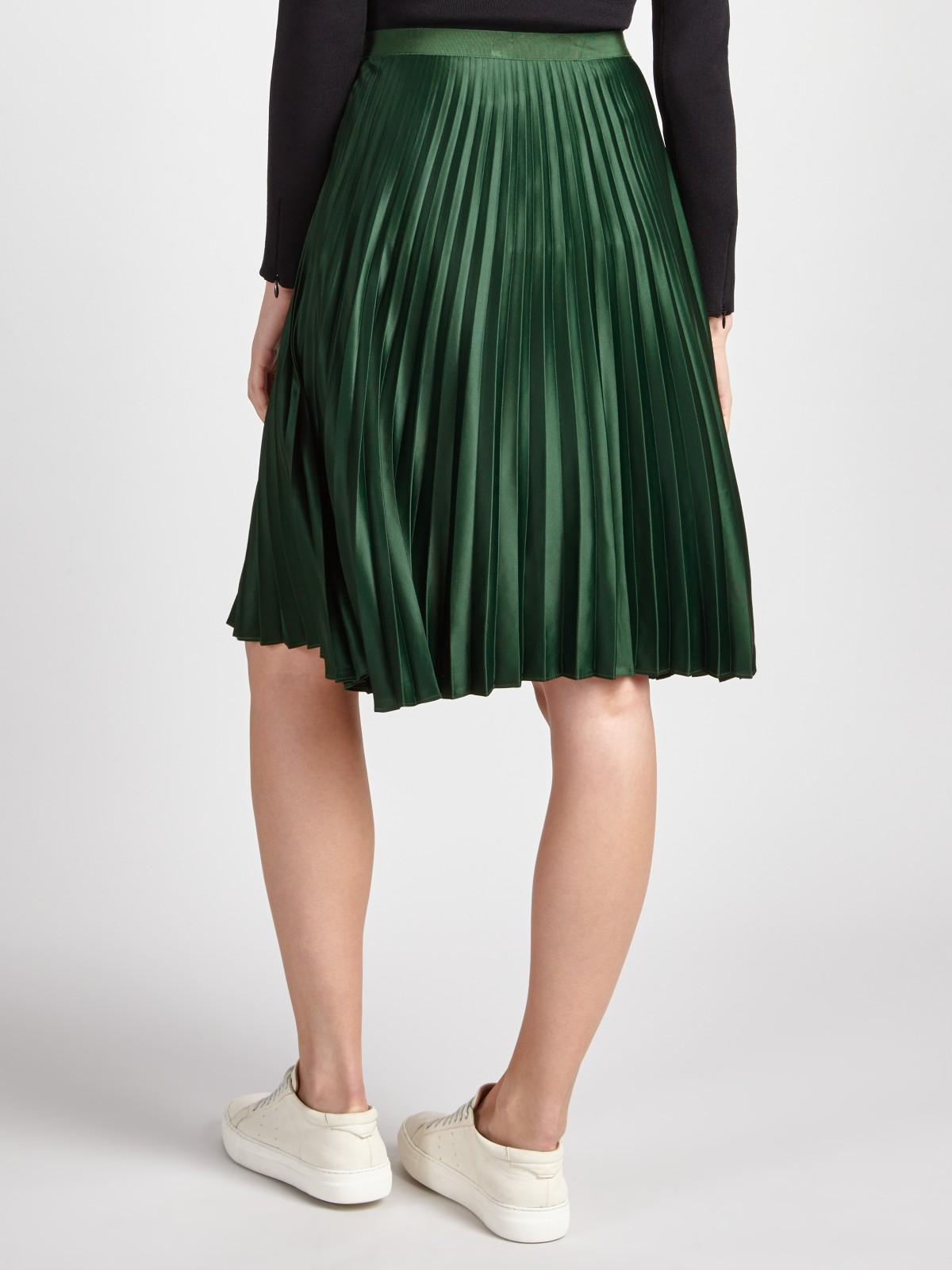f6a206818e Maison Scotch Pleated Skirt in Green - Lyst