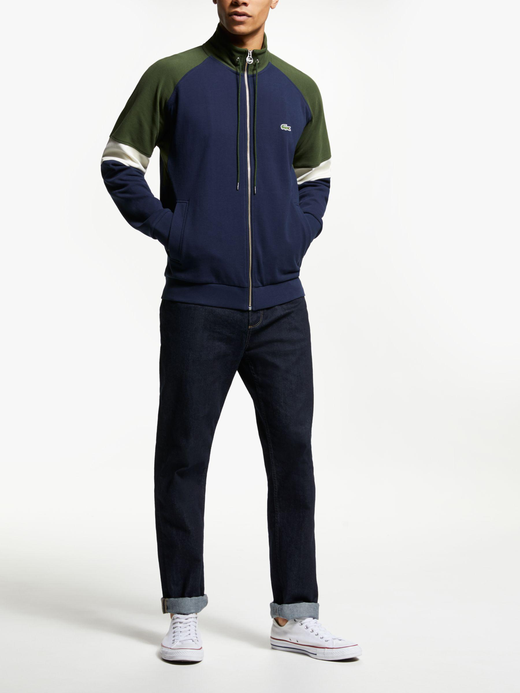 12f50633 Lacoste Zip Through Hoodie in Blue for Men - Save 20% - Lyst