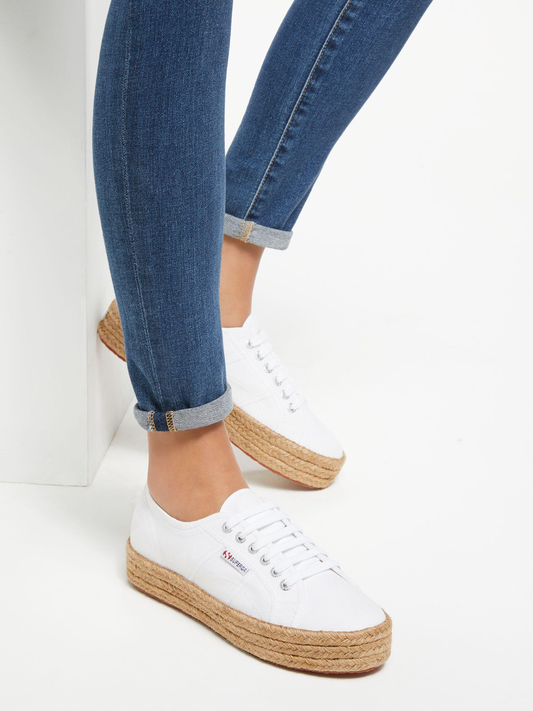 purchase cheap official photos preview of Superga Cotton 2730 Cotropew Flatform Canvas Espadrille Sneakers ...