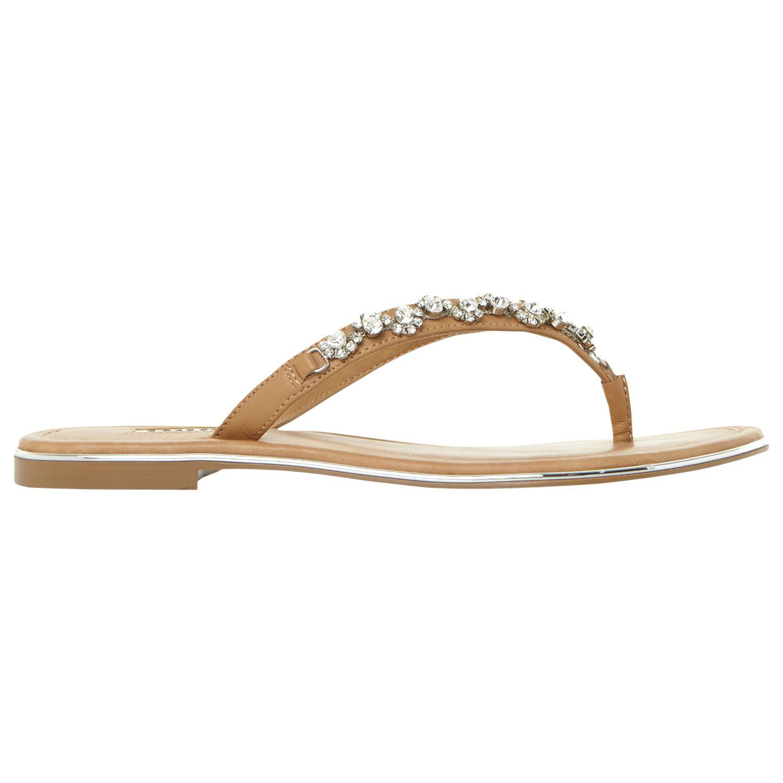 210842f914f9 Dune Newbie Embellished Flip Flops - Save 4% - Lyst