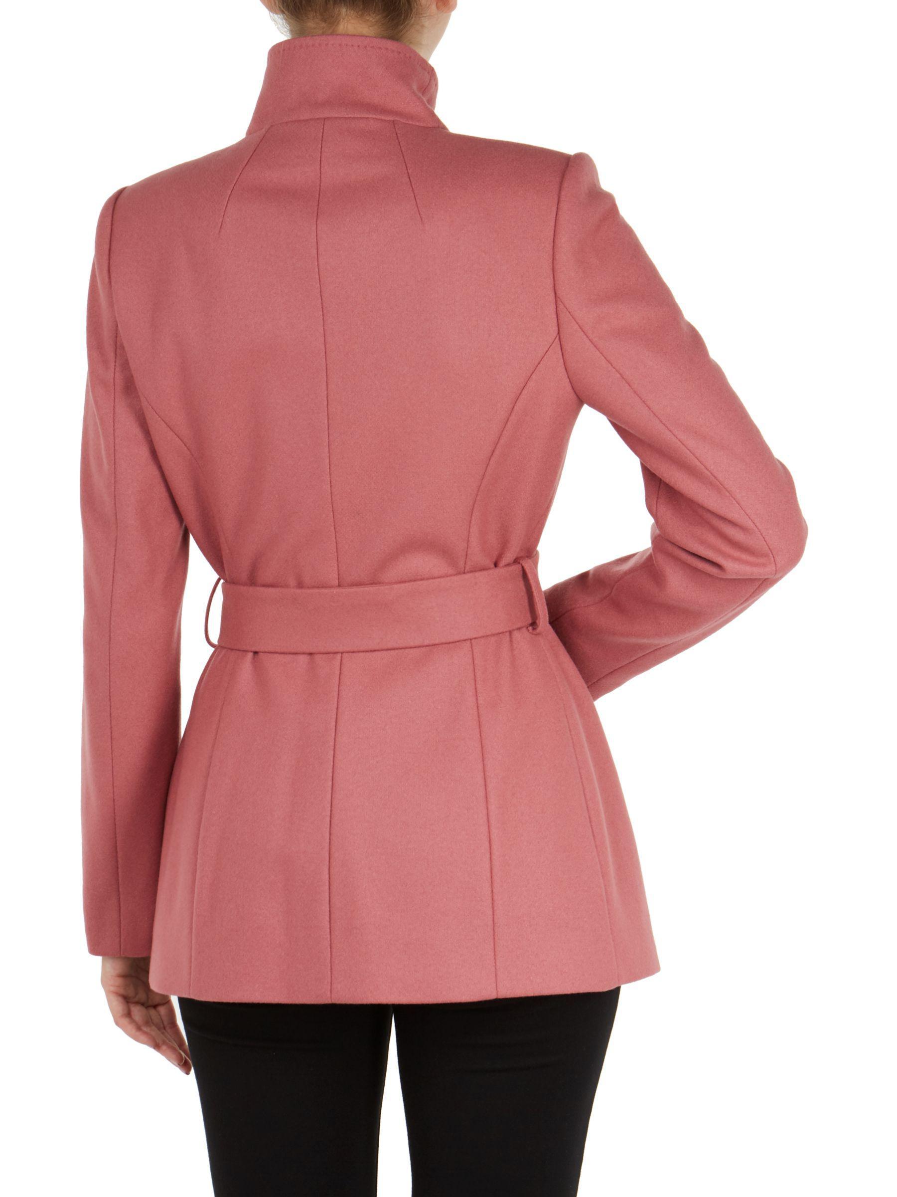 45413e0baf81df Ted Baker Rytaa Wool Blend Wrap Coat in Pink - Lyst