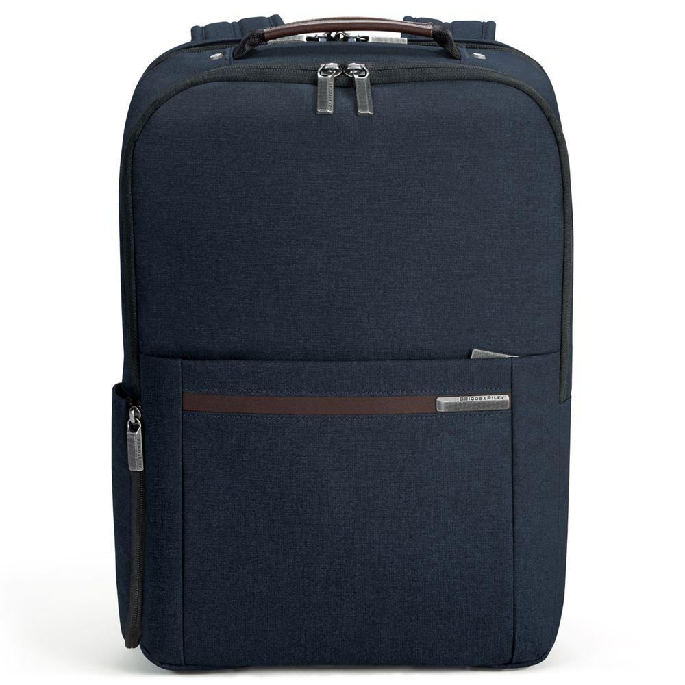 Briggs & Riley Leather Kinzie Medium Backpack in Navy (Blue) for Men