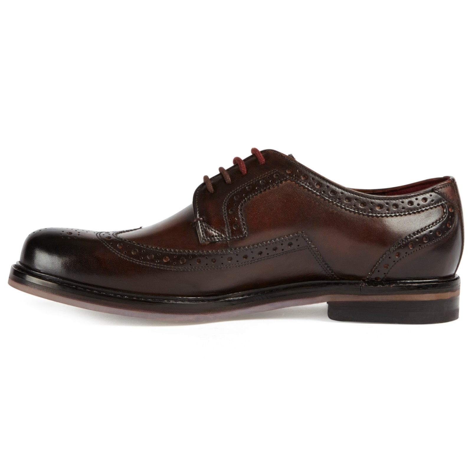 Ted Baker Leather Titanium Derby Shoes in Brown for Men