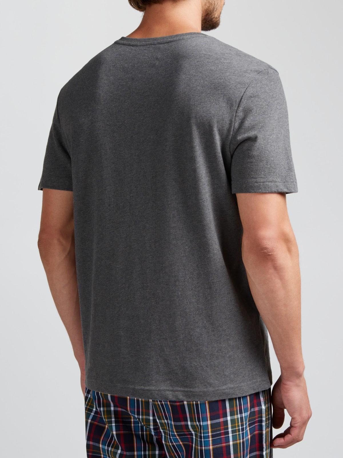 john lewis jersey cotton v neck t shirt in gray for men lyst. Black Bedroom Furniture Sets. Home Design Ideas