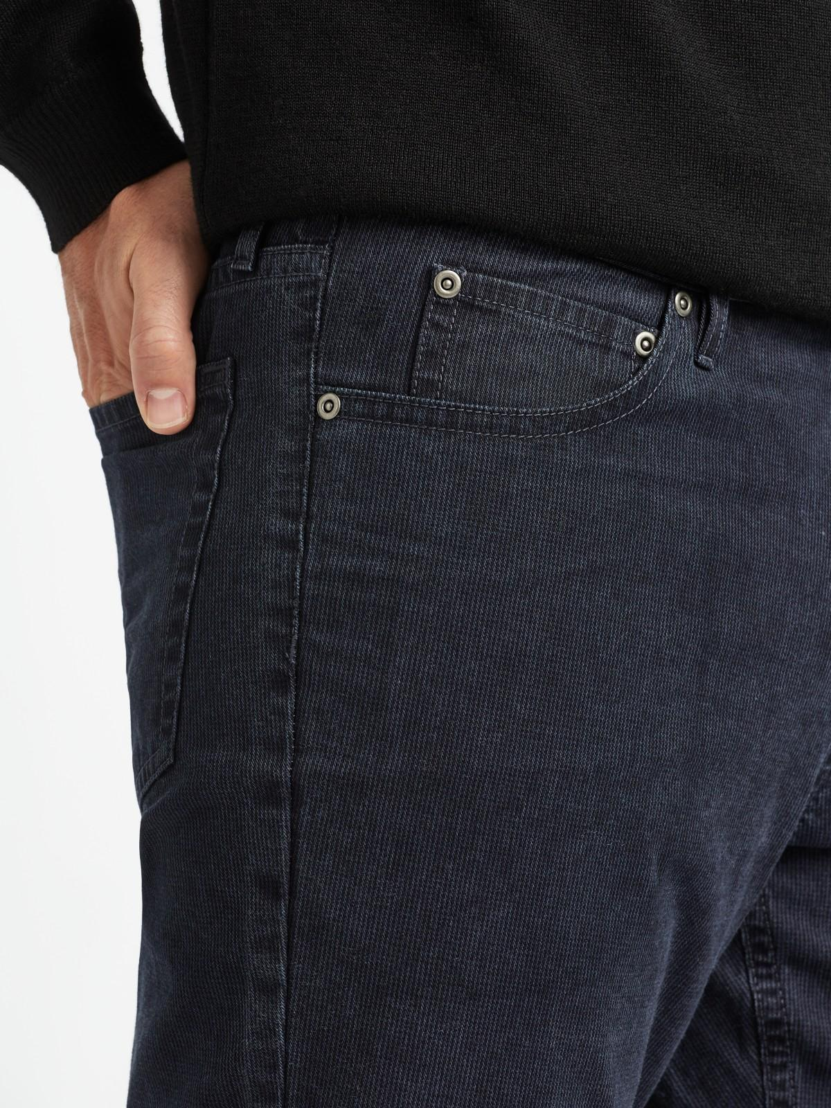 John Lewis Cotton Headland Washed 5 Pocket Trousers in Navy (Blue) for Men