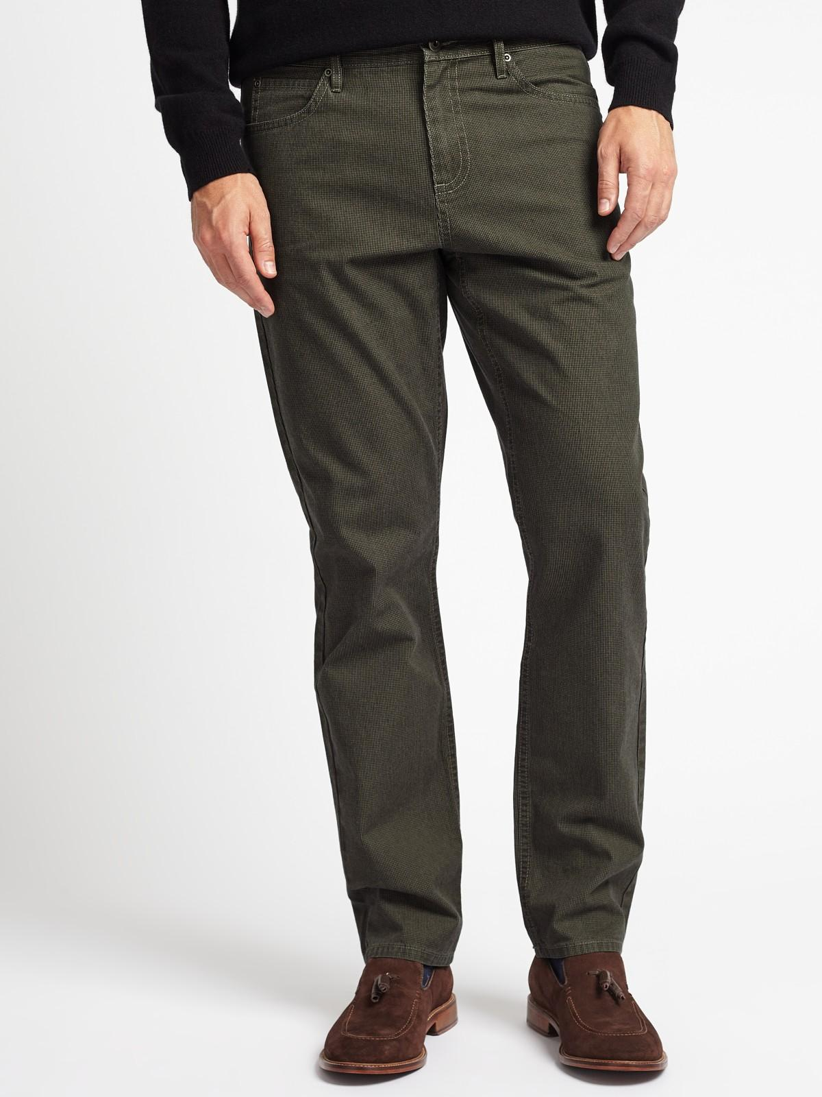 John Lewis Cotton Headland Washed 5 Pocket Trousers in Grey (Grey) for Men