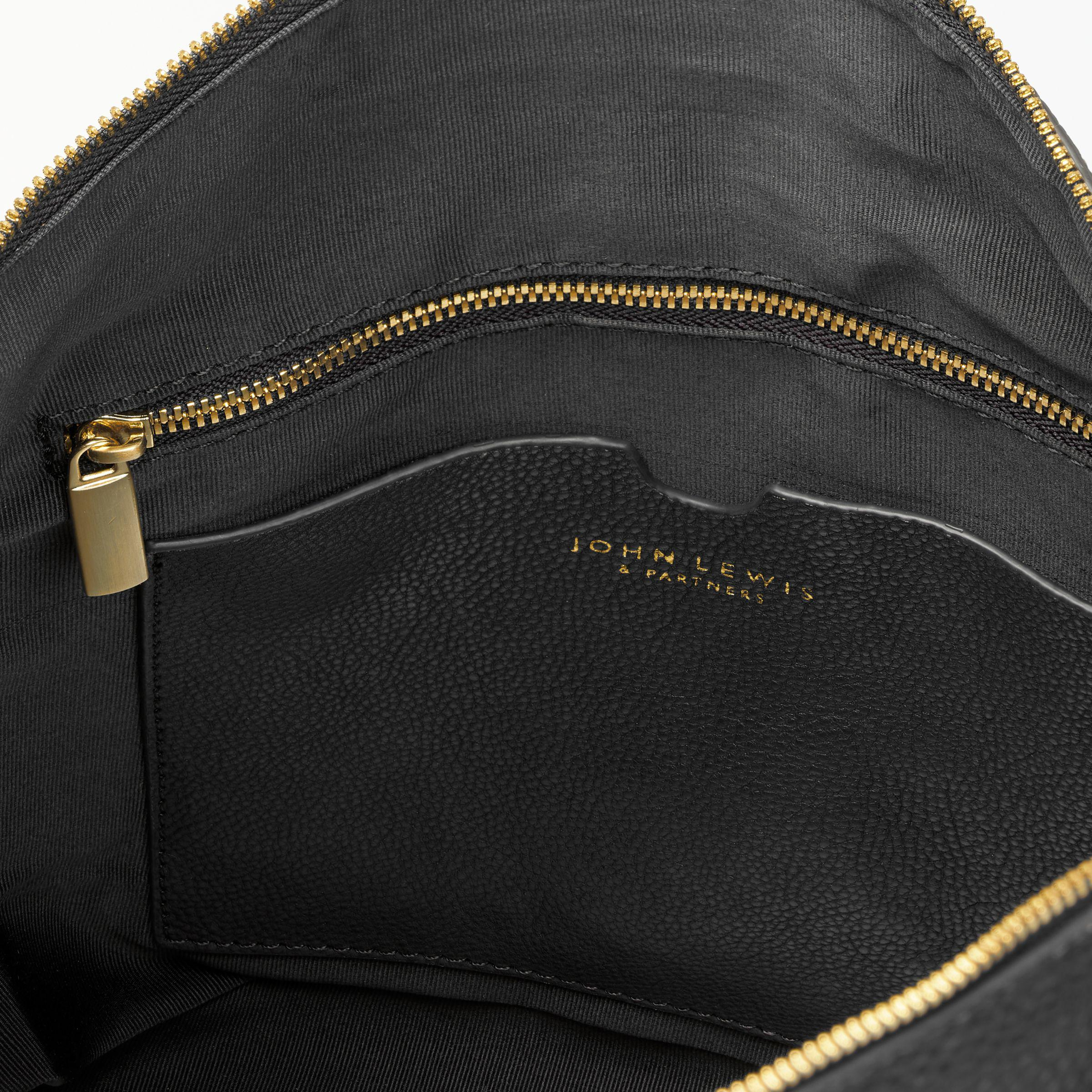 699a7f3f010 John Lewis Kepley Leather Cross Body Bag in Black - Lyst
