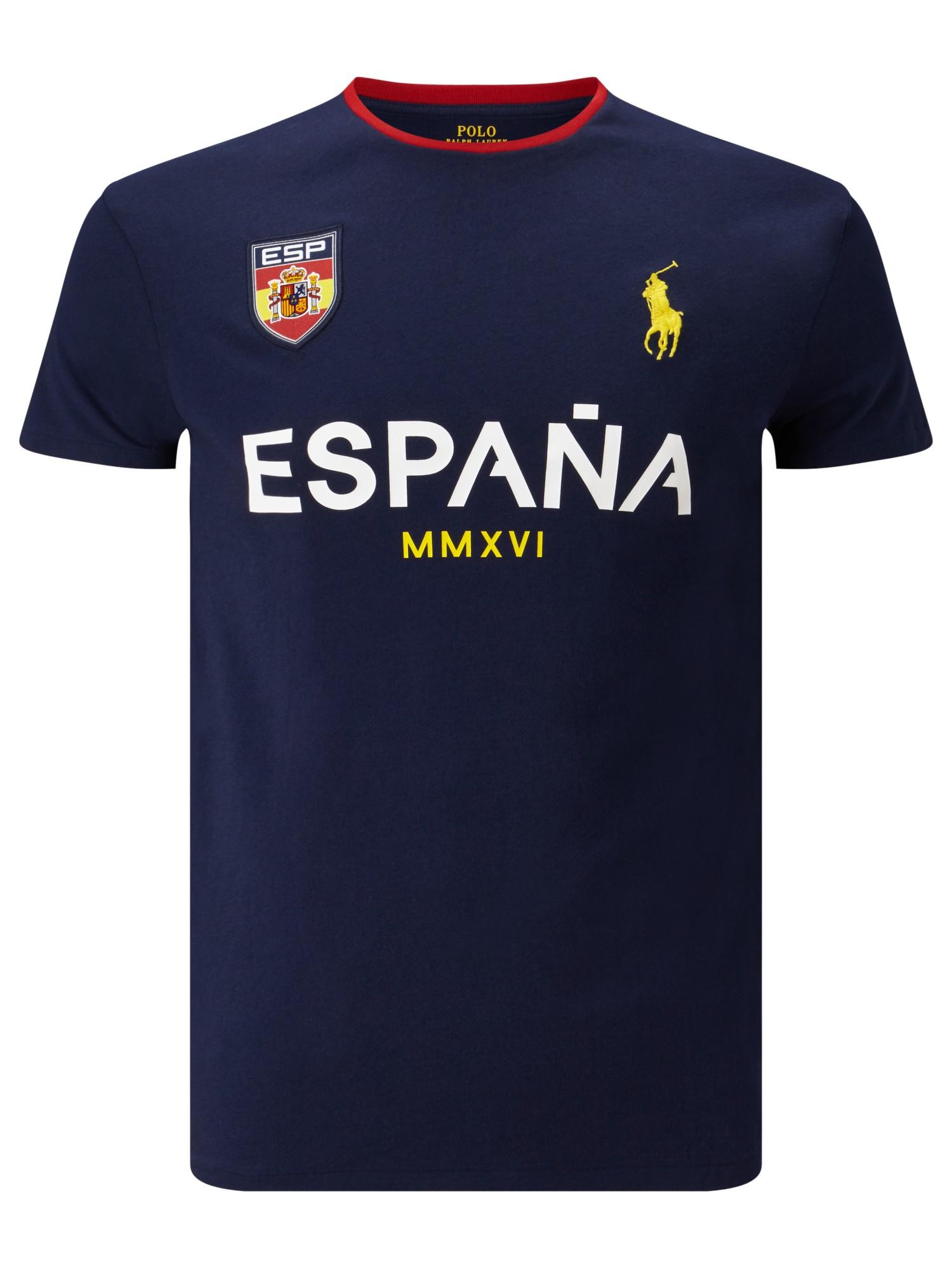 Lyst polo ralph lauren spain short sleeve crew neck t for Spain polo shirt 2014