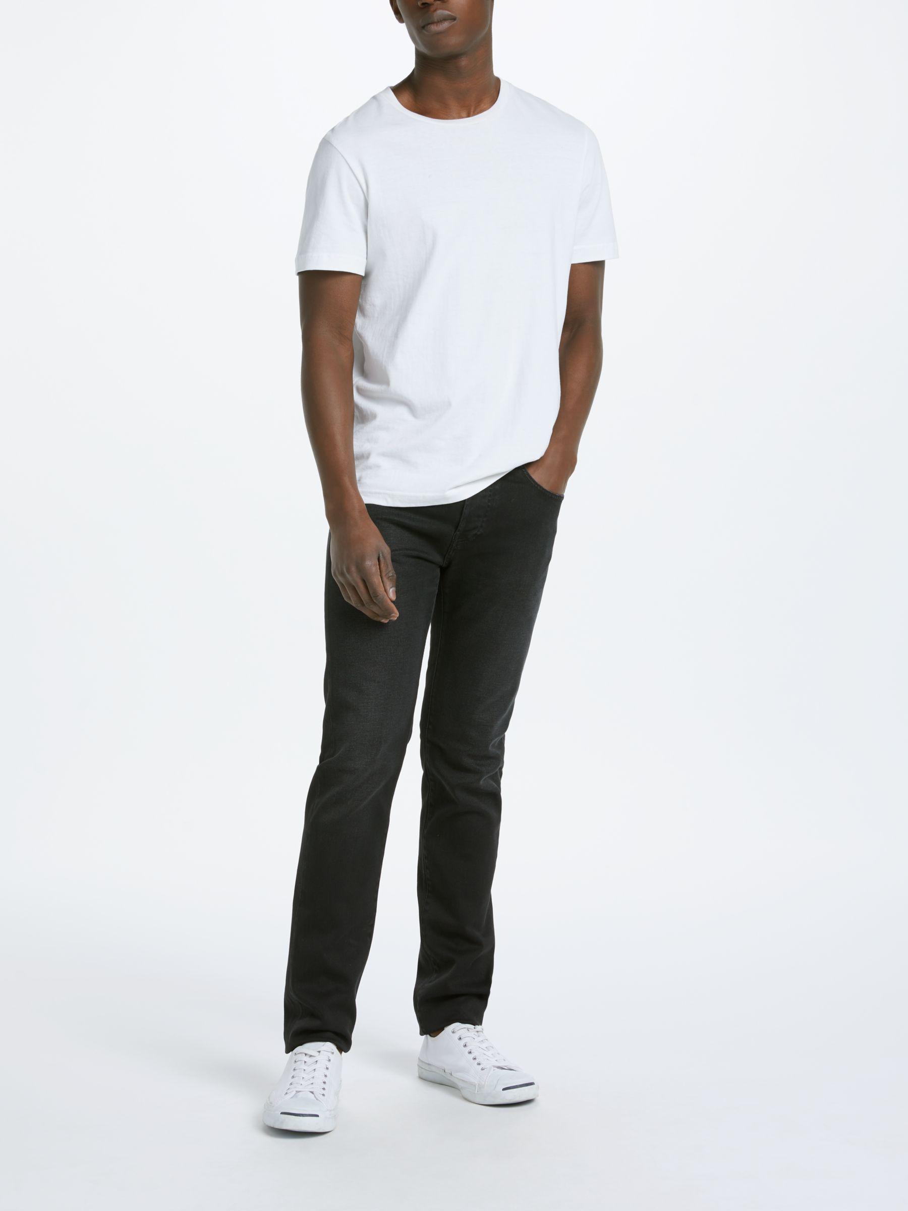 John Lewis Denim Edwin Ed-80 Slim Tapered Jeans in Black for Men