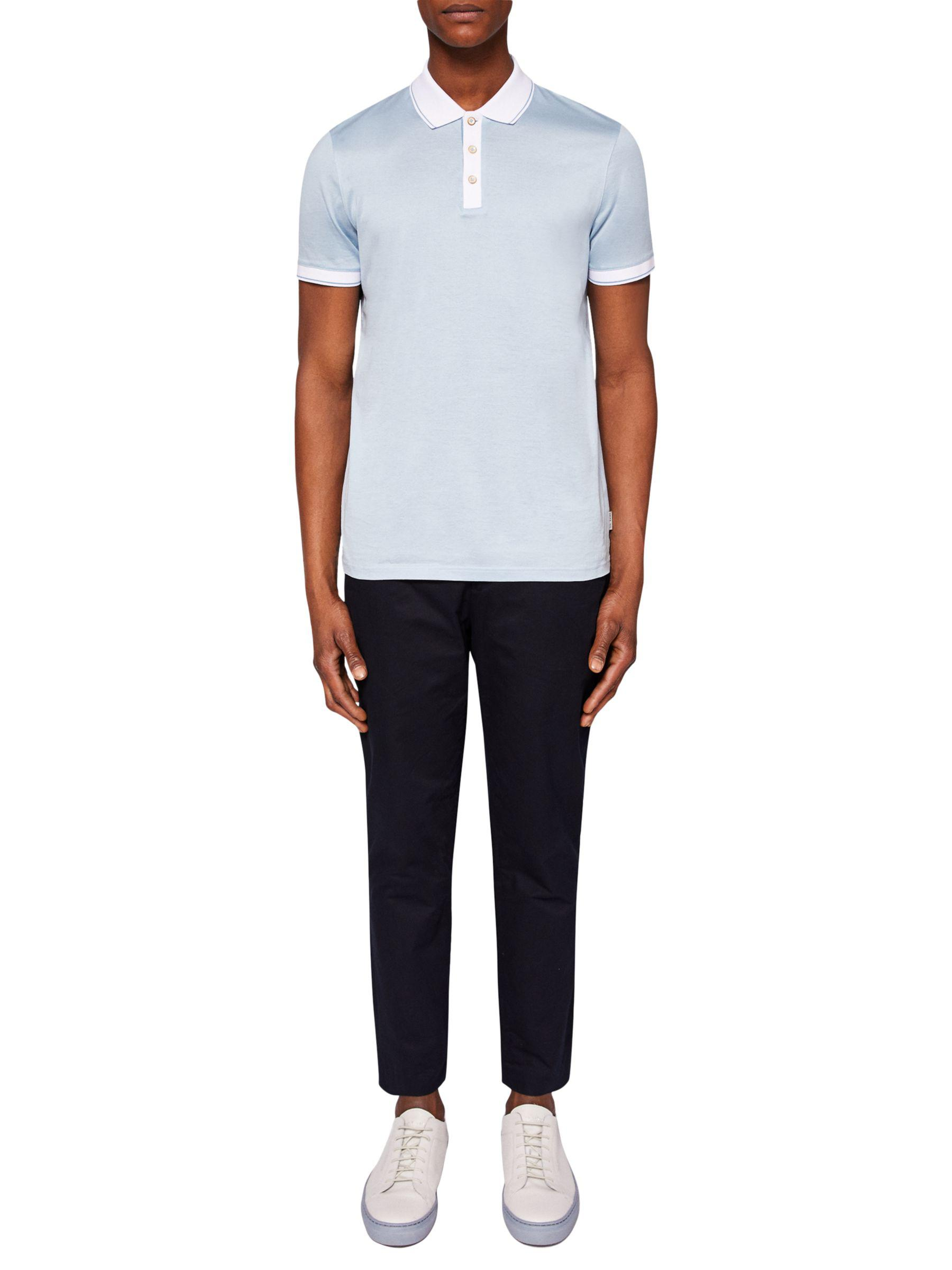 57425c2ece96c0 Ted Baker Staffy Short Sleeve Contrast Polo Shirt in Blue for Men - Lyst