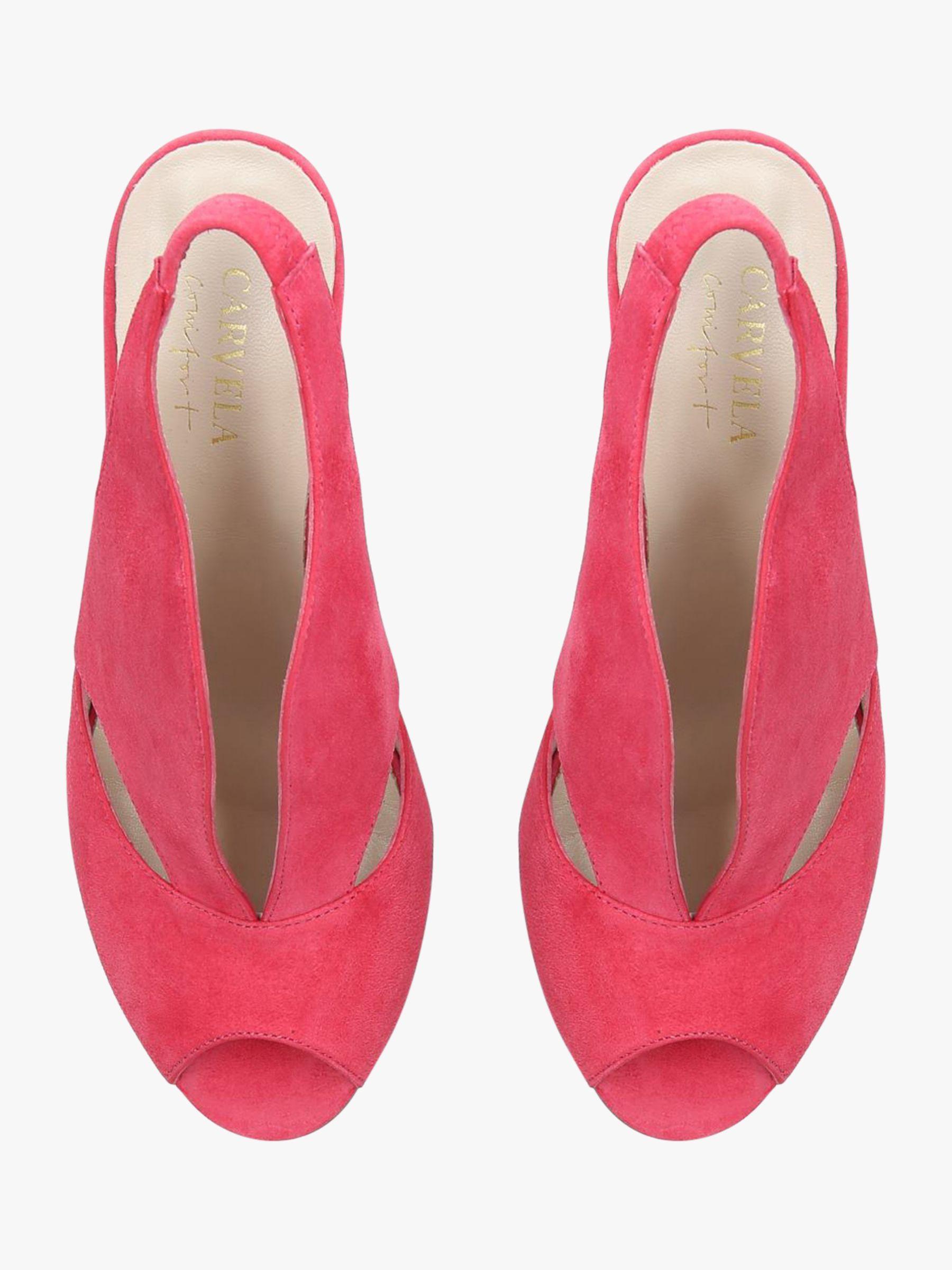 ff52fa36e3 Carvela Kurt Geiger Arabella Cone Heel Open Toe Court Shoes in Pink - Lyst