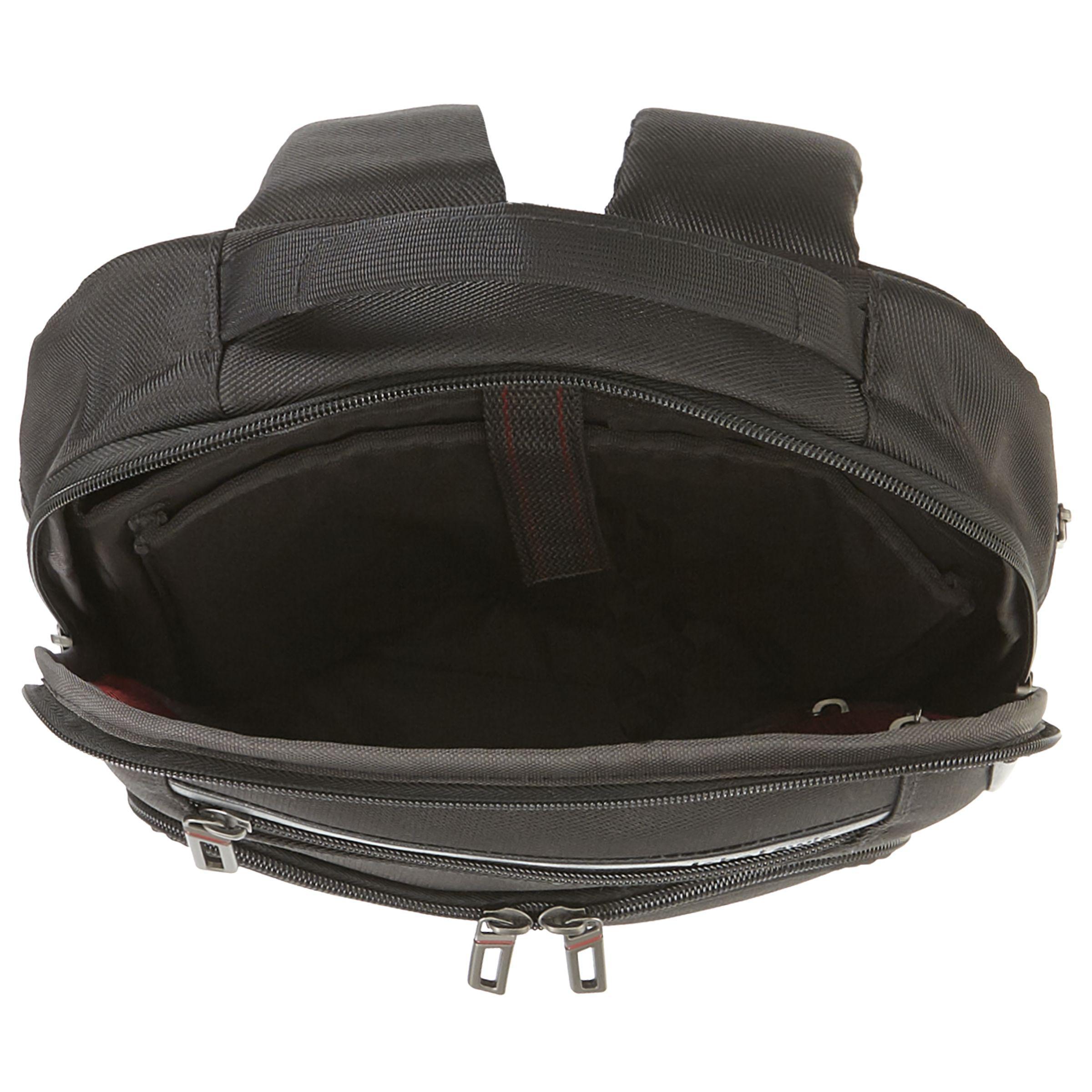 "John Lewis Synthetic Raise Expanding 15"" Laptop Backpack in Black for Men"
